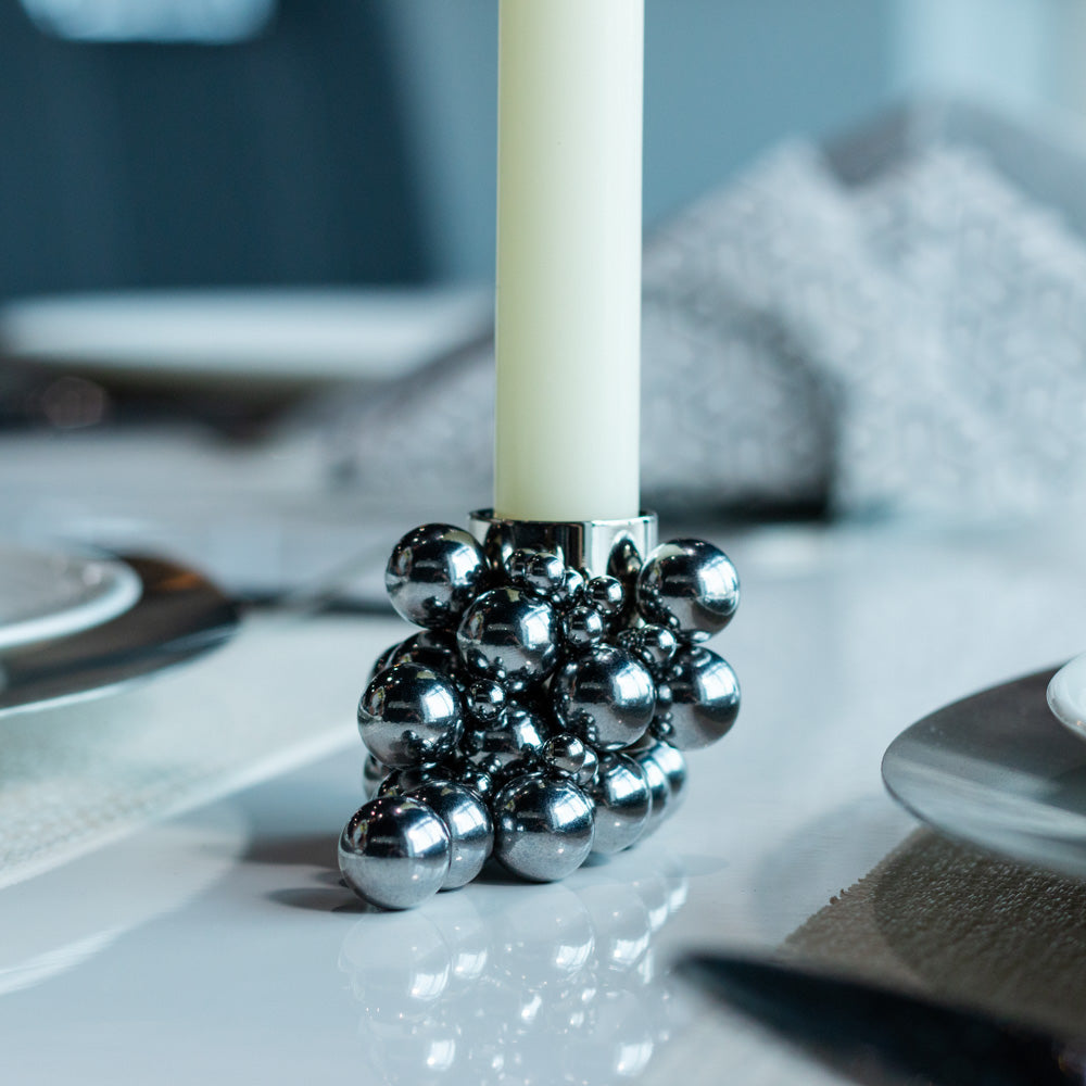 Magnetic Bubble Candle Holder (Chrome)