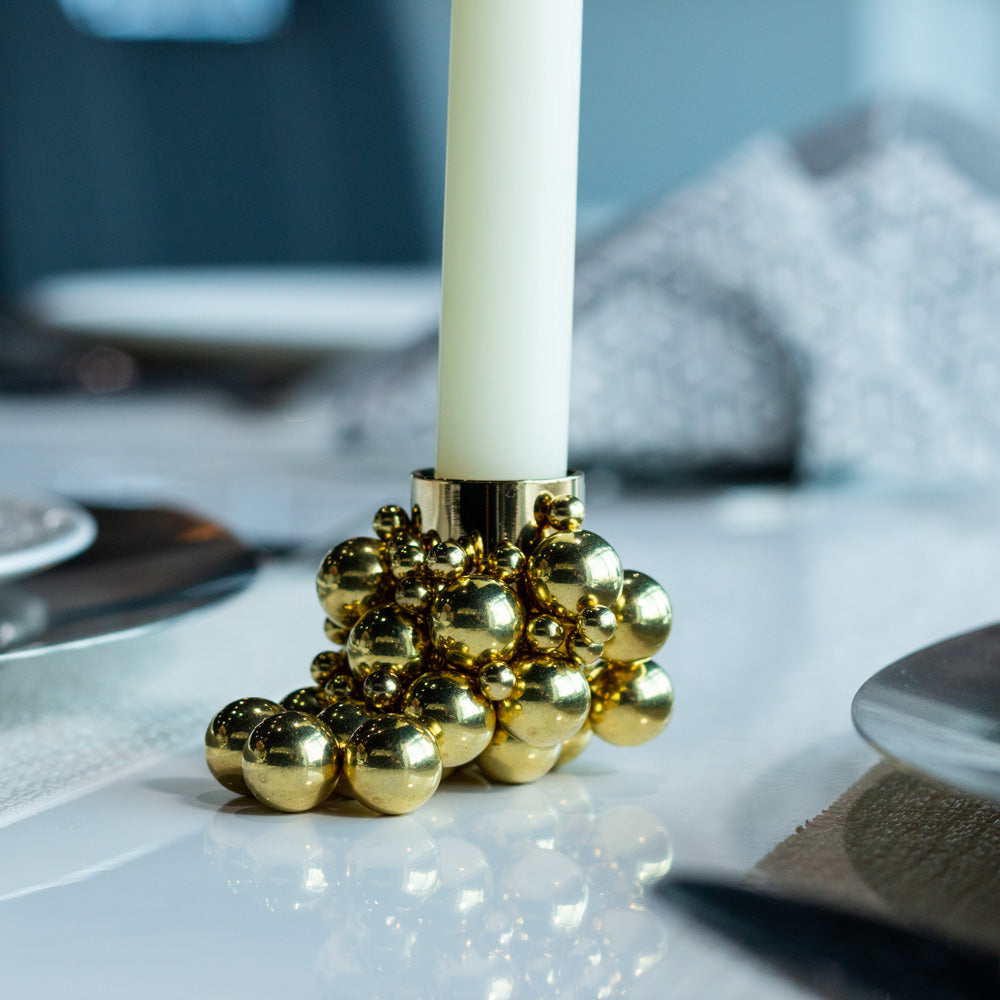Magnetic Bubble Candle Holder (Gold)