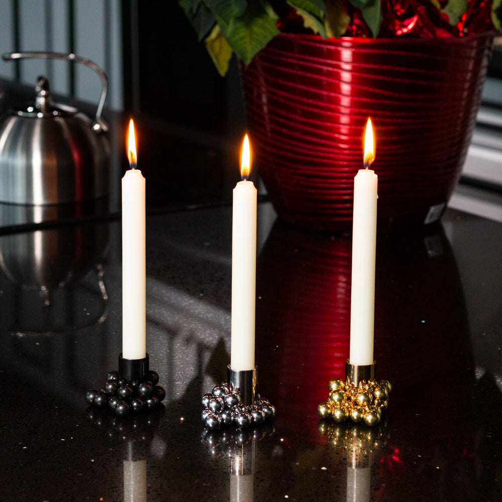 Magnetic Bubble Candle Holder (Black)