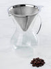 600mL Glass Pour Over Coffee Brewer with Double Mesh Stainless Filter