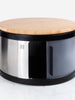 Rounded Dia. 32cm Bread Bin with Bamboo Chopping Board