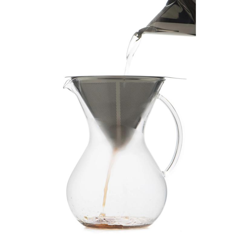 Pour Over Coffee Brewer & Stainless Filter