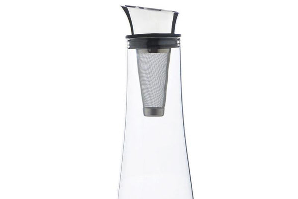 Fridge Carafe with Stainless Steel Coffee Filter (Noir/Blanc)