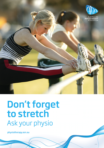 Stretching hamstring poster