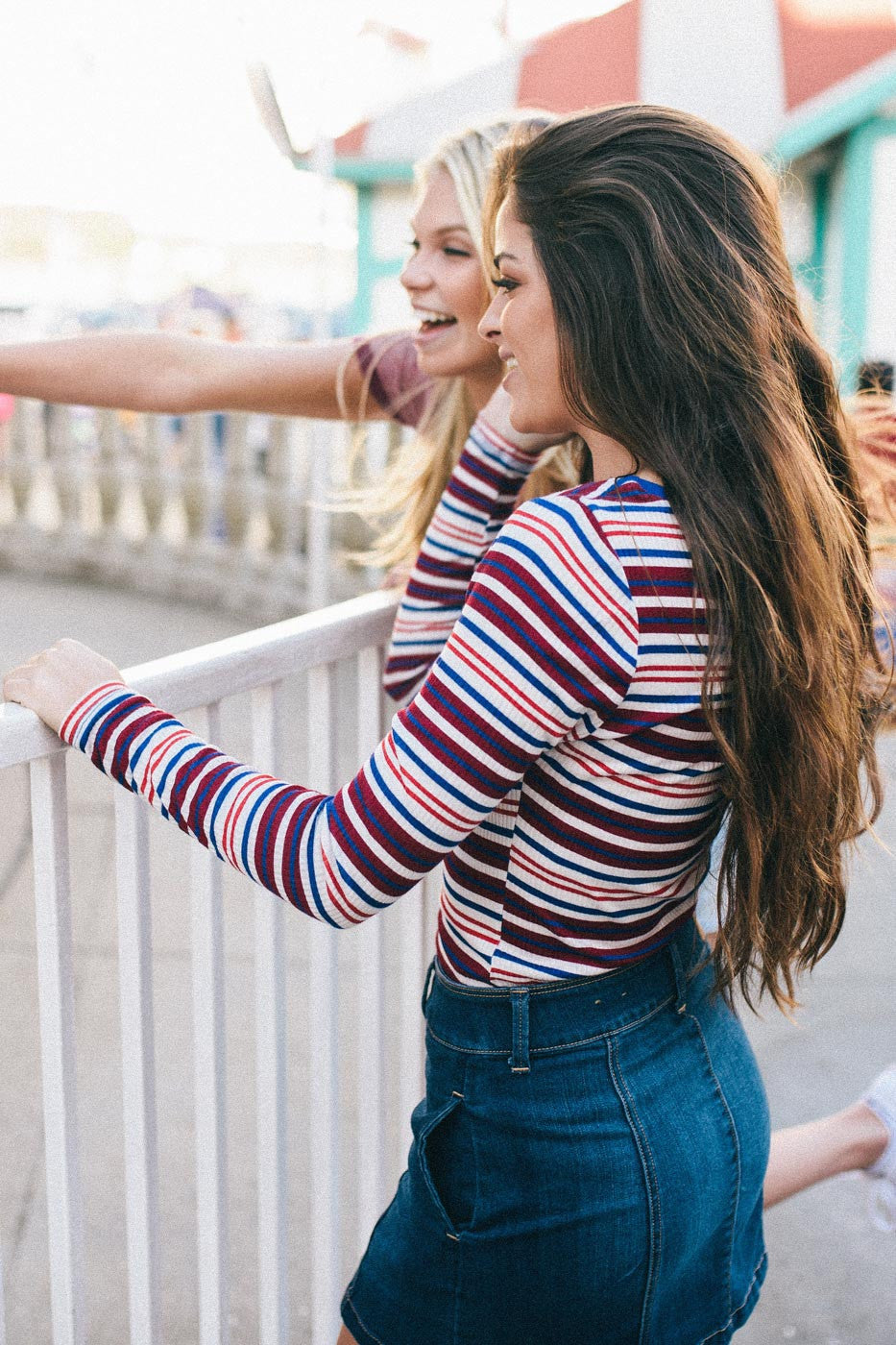 Multi Stripe Rib Top