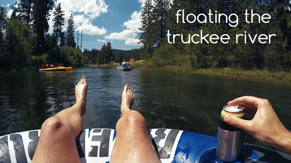an extreme float down the truckee river