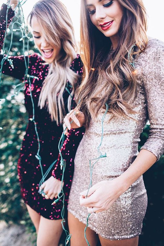 Velvet Sequin Dress