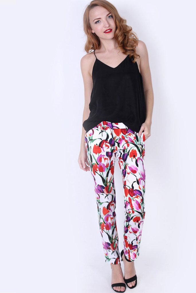 Red Tulip Trousers