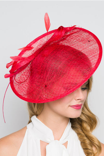 """Wendy"" Fascinator - Red"