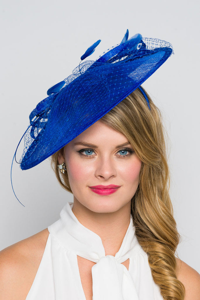 """Wendy"" Fascinator - Royal Blue"