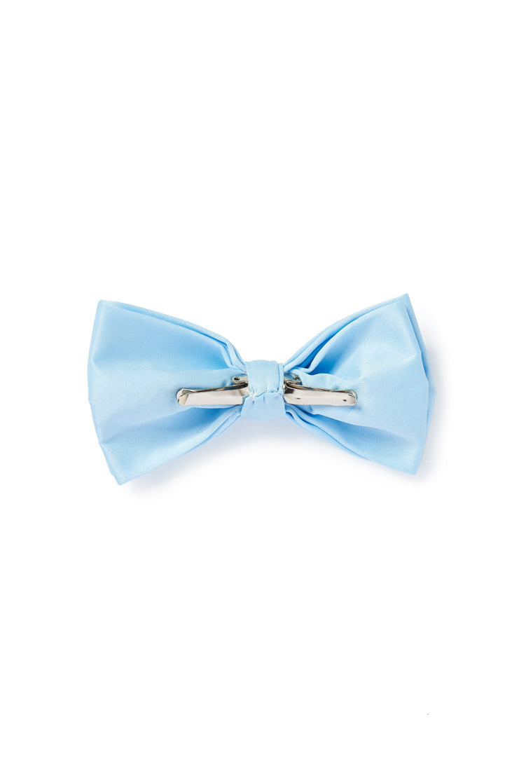 Blue Clip On Bow Tie
