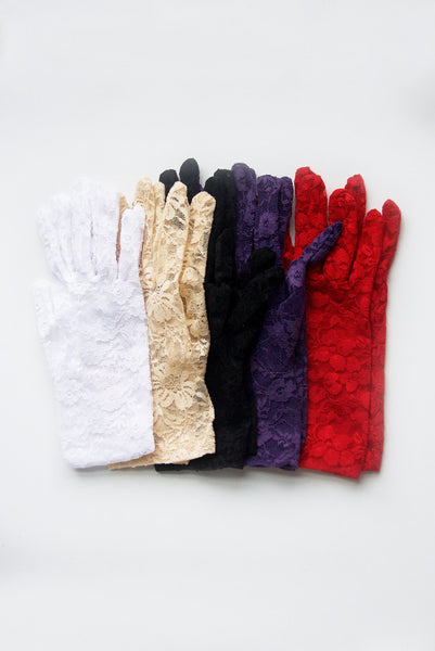 """Gracie"" Red Lace Gloves"