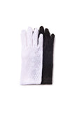 black and white lace gloves