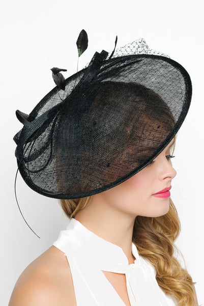 """Wendy"" Fascinator - Black"