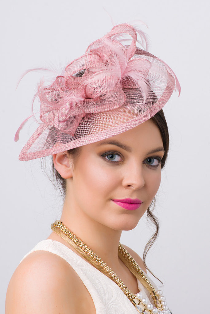 """Penny"" Fascinator - Blush"