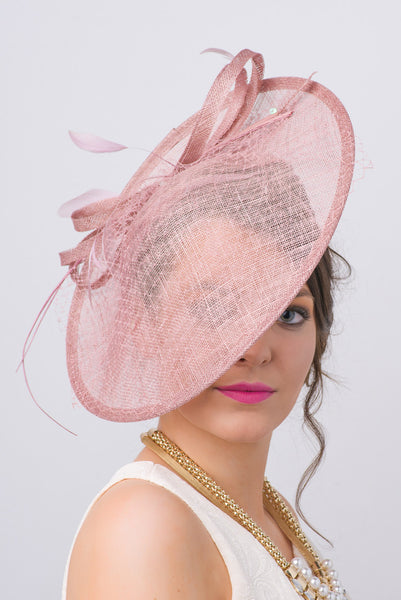 """Wendy"" Fascinator - Mauve"