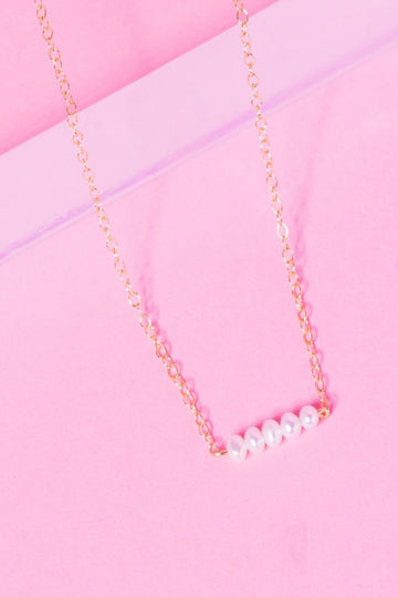 Cluster 14K Gold Filled Bar Necklace