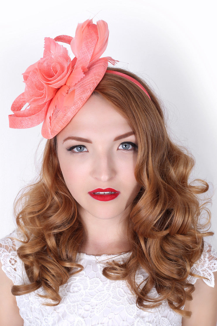 Coral Pink Hat