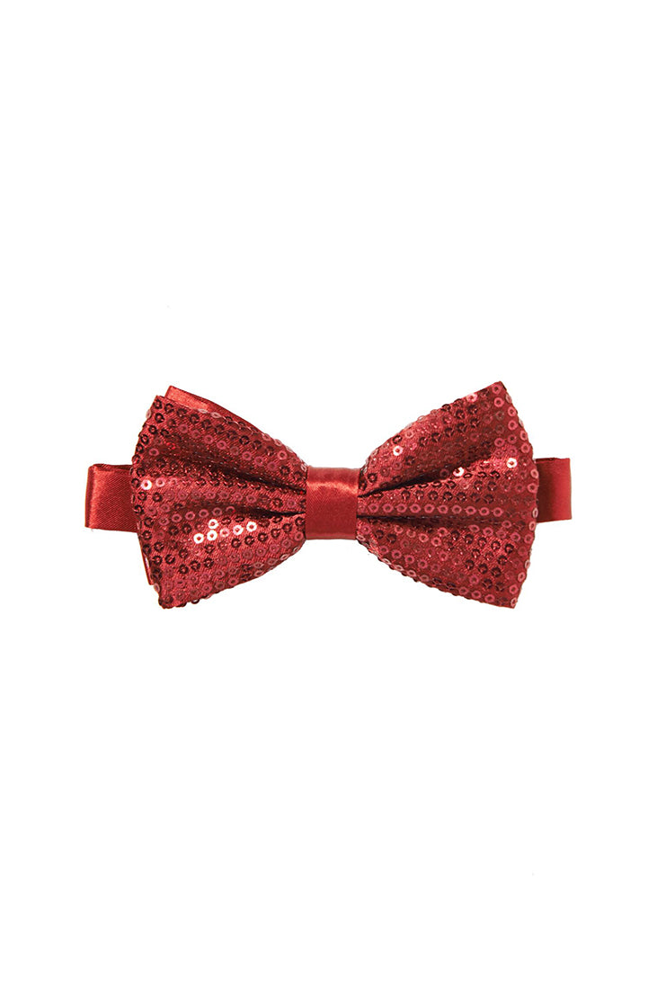 Men's Sequin Bow tie - Burgundy