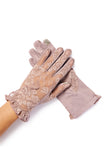 vintage purple gloves