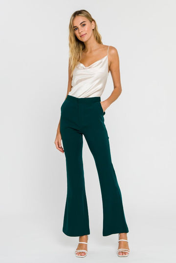 Emerald Green Flared Trousers
