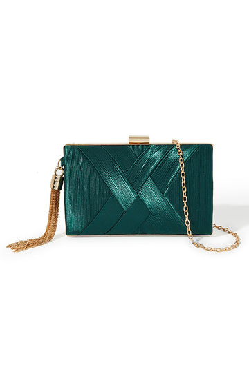 Tassel Clutch - Emerald Green