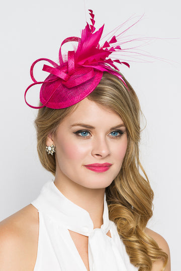 Fuchsia Fascinator