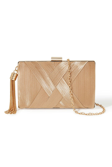 Tassel Clutch - Gold