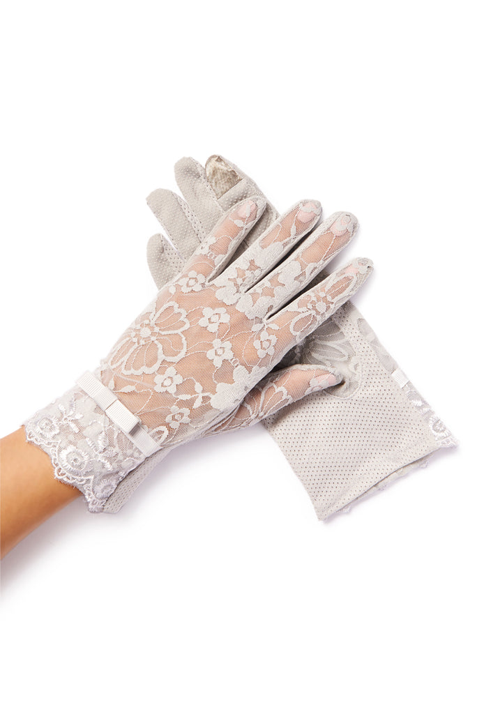 """Amelie"" Gray Grace Gloves"