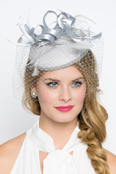 """Juliet"" Felt Fascinator - Gray"