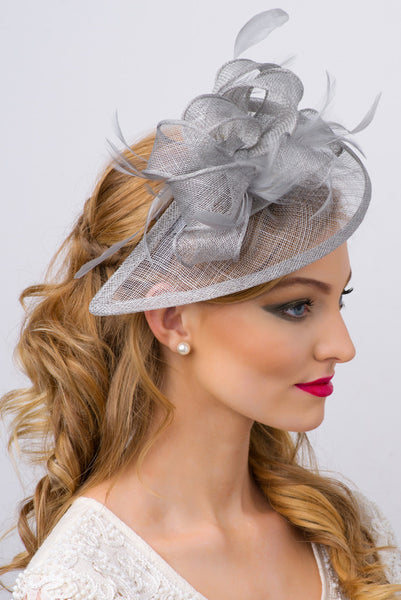 """Penny"" Fascinator - Gray"