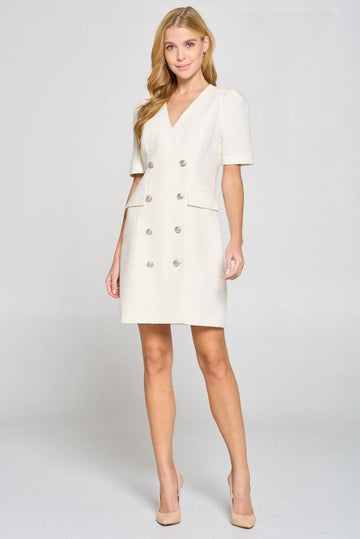 Audrey Light Tweed A-Line Dress