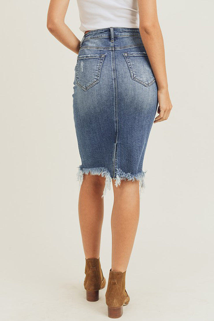 Jaylon Pencil Denim Skirt