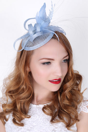Light Blue Fascinator Headband