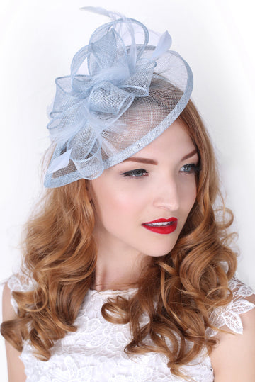 Light Blue Fascinator