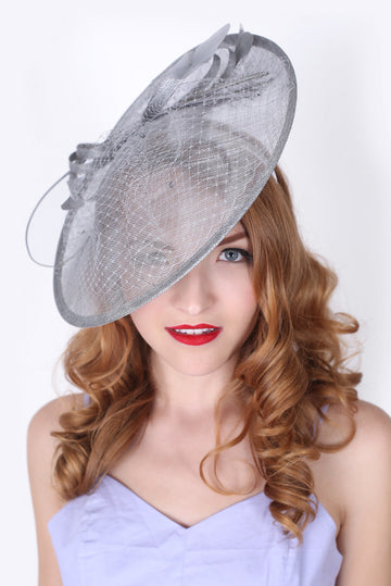 Light Gray Fascinator Hat
