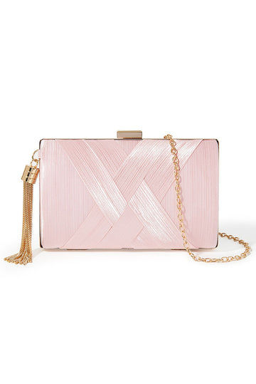 Tassel Clutch - Light Pink