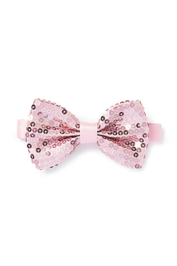 Shimmer Pink Bow Tie