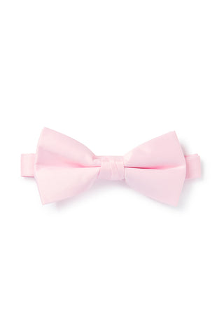 Light Pink Satin Bow Tie