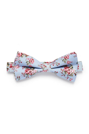 Shabby Floral Bow Tie - Periwinkle