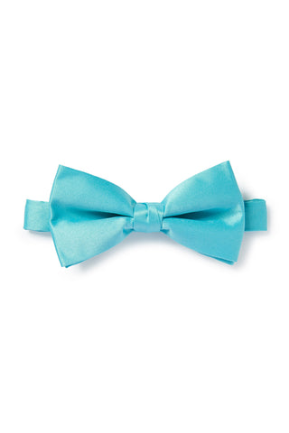 Light Turquoise Satin Bow Tie