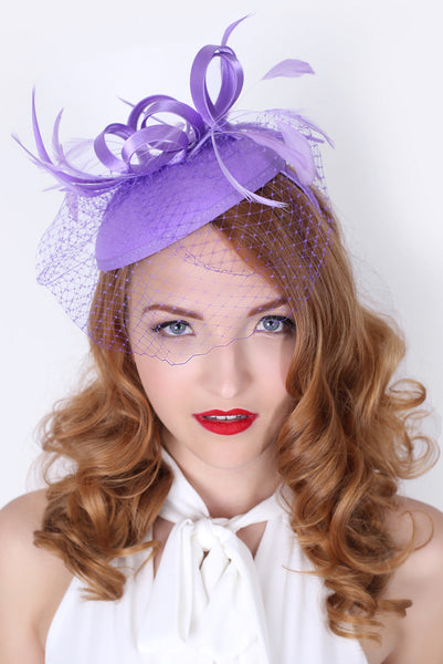 """Juliet"" Felt Fascinator - Lilac"