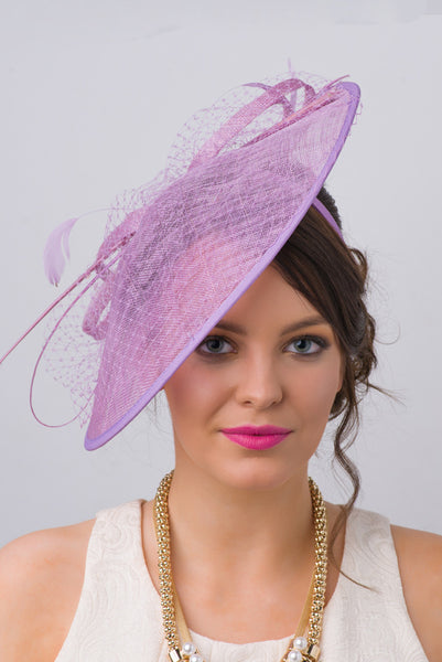 """Wendy"" Fascinator - Lilac"