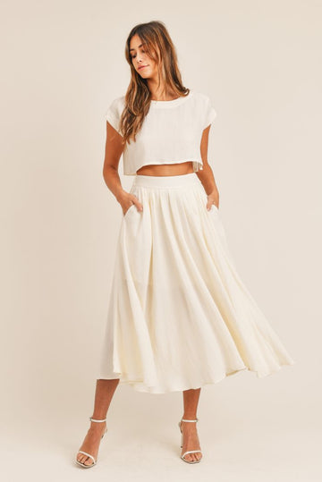 Lola Midi Skirt and Crop Top Set