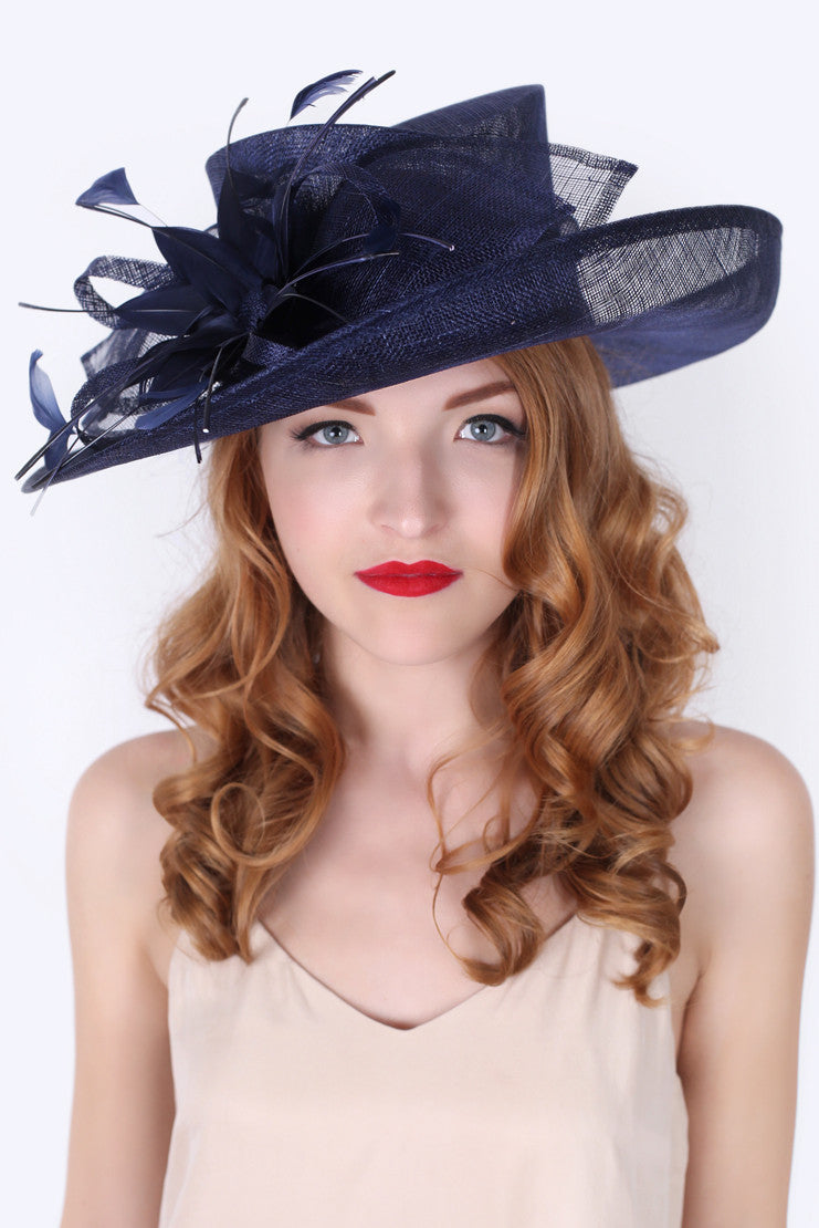 Navy Blue Derby Sun Hat