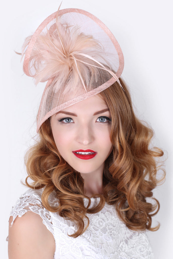 Nude Pink Twist Fascinator