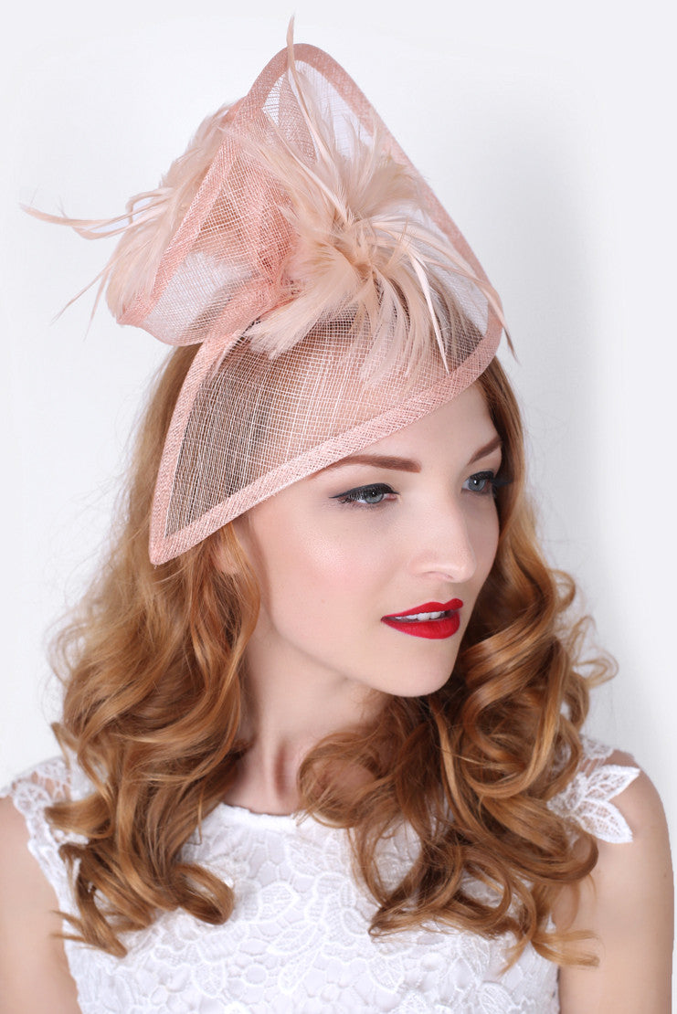 Nude Pink Twist Hat