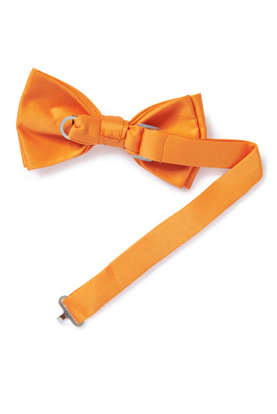 Orange Banded Bow Tie