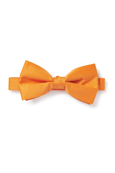 Orange Satin Bow Tie