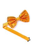 Orange Sequined Bow Tie